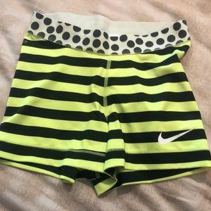 Nike women's (or girls) XS black &yellow spandex